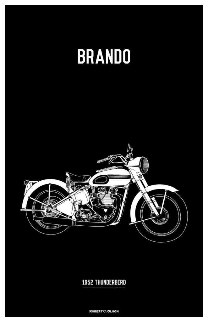 Brando Motorcycle Print