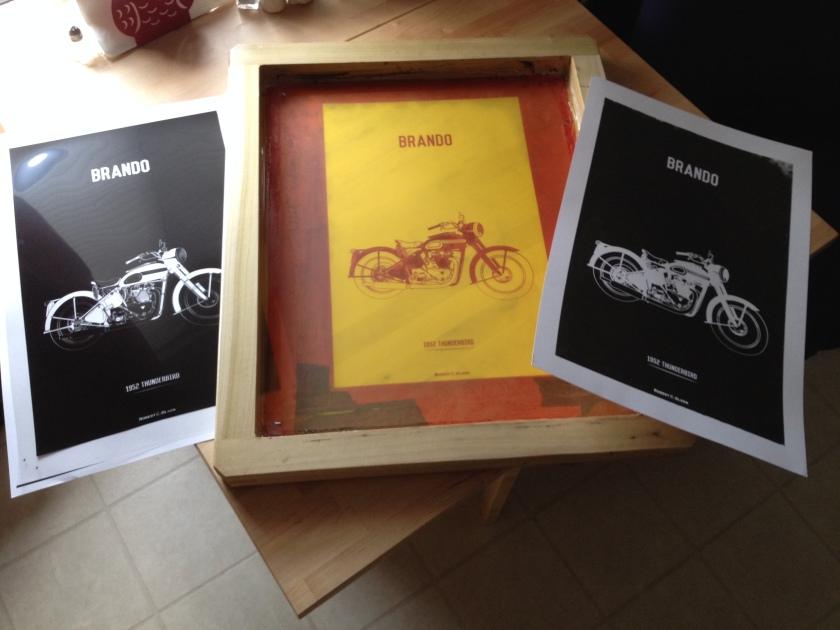 Motorcycle Screen Print