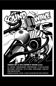 Sound Wave Black White
