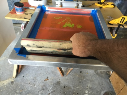 Cowboy Indian Print Pull Process
