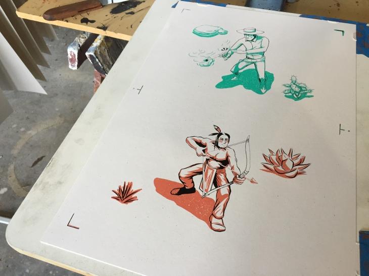 Cowboy Indian Print Final Process