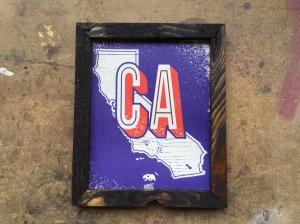 California Grunge Print Frame