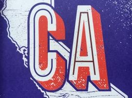 California Grunge Print