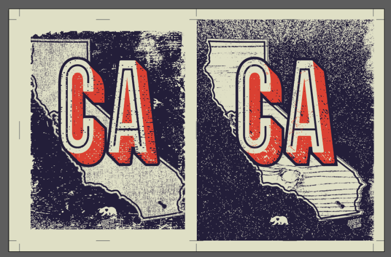 California Print Design Screenshot