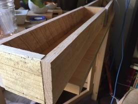 Wooden Box Center Piece