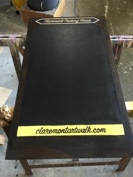 Claremont Art Walk Sidewalk Sign Chalk