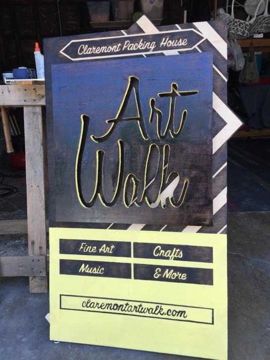 Claremont Art Walk Sidewalk Sign