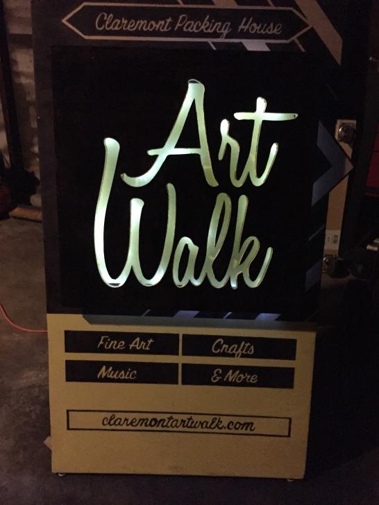 Claremont Art Walk Sidewalk Sign LIghts