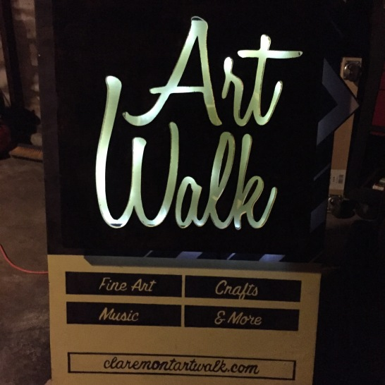 Claremont Art Walk Sidewalk Sign LIghts