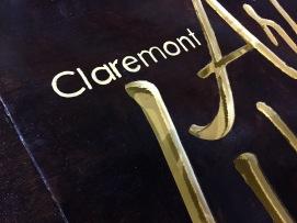 Claremont Art Walk Sidewalk Sign Detail
