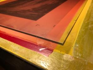 Sequoia print burn glass