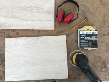 Sequoia wood panel tools