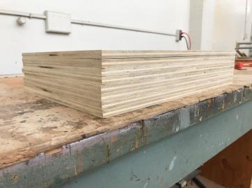 Sequoia wood panel stack