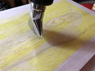 Sequoia wood panel yellow