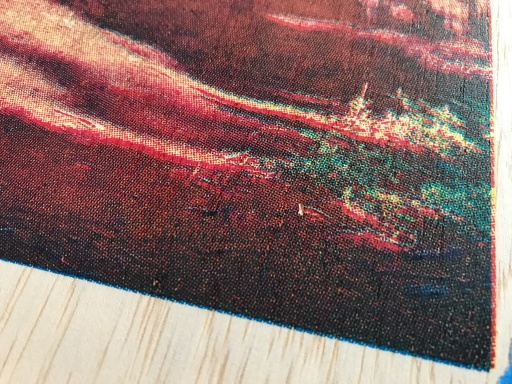 Sequoia wood panel final detail