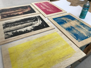 Sequoia wood panel screen prints