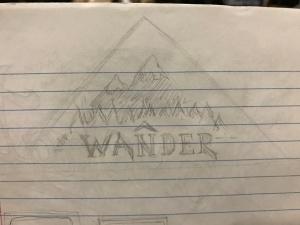 Wander sticker sketch