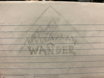 Wander sticker sketch