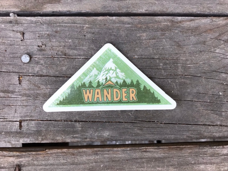 Wander sticker by RC Olson