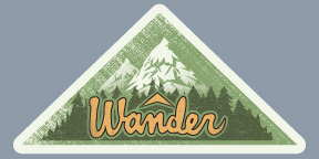 Wander Sticker Alternative Type