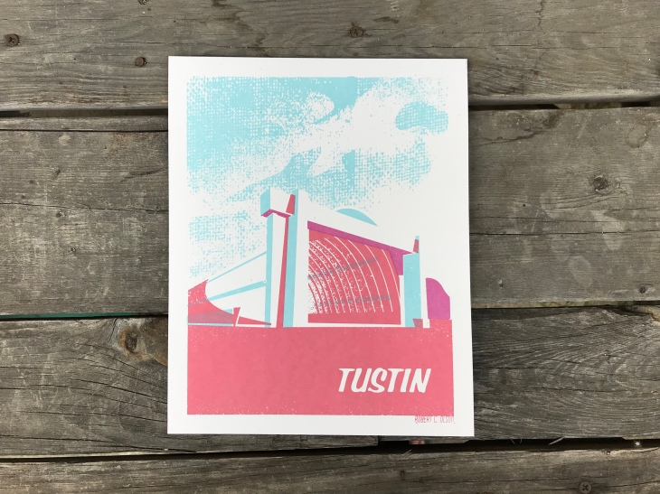 Tustin Hangars Sunset Series Print