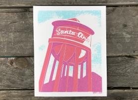 Santa Ana Water Tower Sunset Series Print 1
