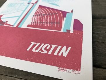 Tustin Hangars Sunset Series Print 1