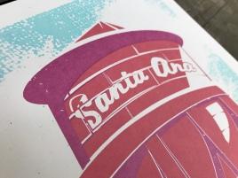 Santa Ana Water Tower Sunset Series Print 2