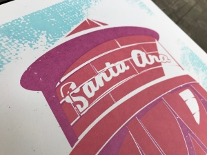 Santa Ana Water Tower Sunset Series Print 2