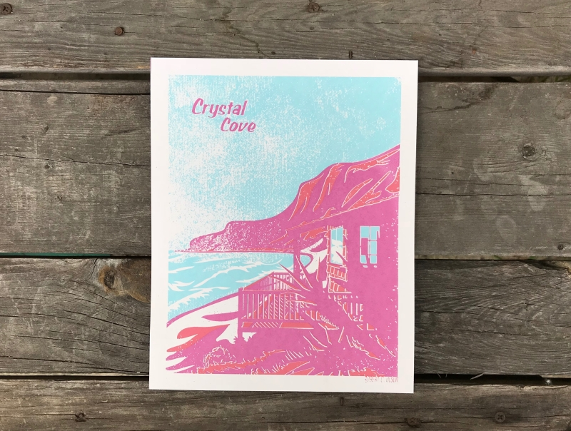 Crystal Cove Sunset Series Print