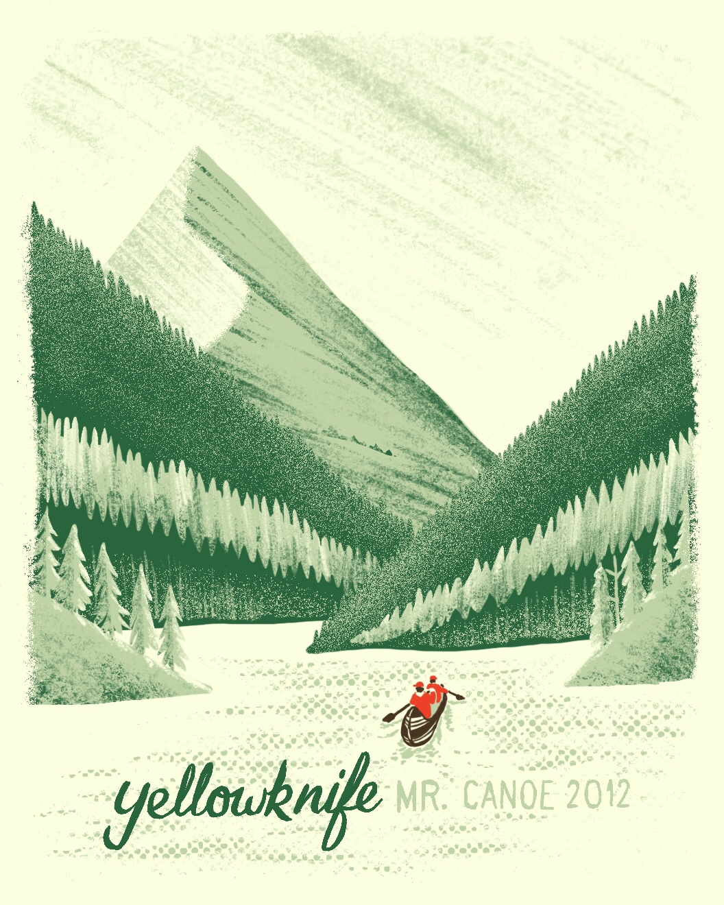 Yellowknife canoe trip illustration